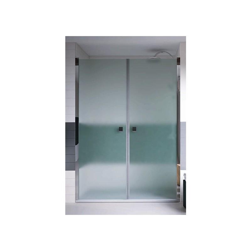 mampara ducha frontal 2 puertas transparente open varobath
