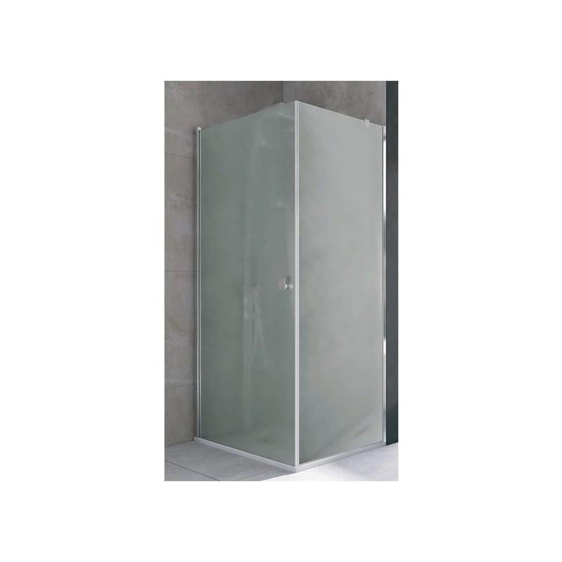 Mampara ducha cuadrada 1 puerta 1 fijo transparente open for Mamparas de ducha 80x80