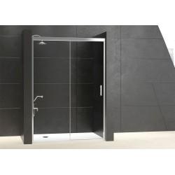 Mampara ducha Cuadrada 2 Puertas - 2 Fijos TRANSPARENTE Moddelo 23 Acquaban.