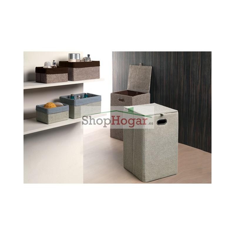 Accesorios Baño Gris: > Accesorios Baño Gedy > Cesta Gedy almacenaje baño Lavanda gris