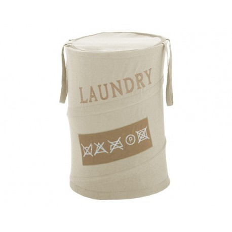 Cesta Gedy ropa sucia Laundry beige.