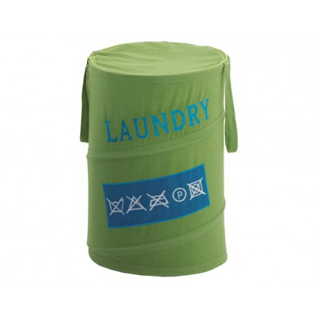 Cesta Gedy ropa sucia Laundry verde.