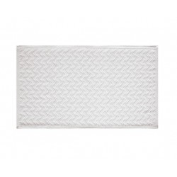 Alfombra baño Gedy 50x80 Bramante blanco.