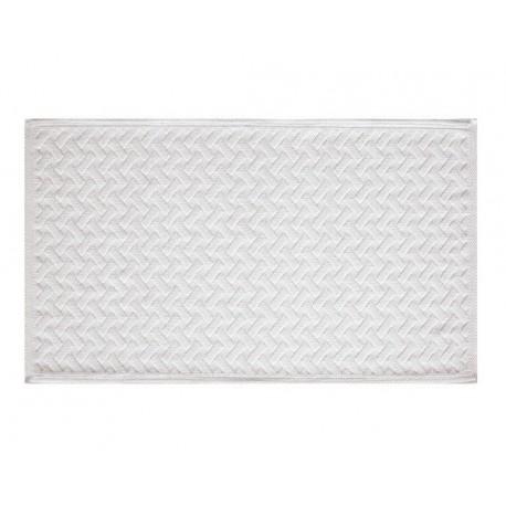 Alfombra baño Gedy 60x100 Bramante blanco.