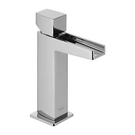 Monomando lavabo Slim-Tres con caño cascada libre.