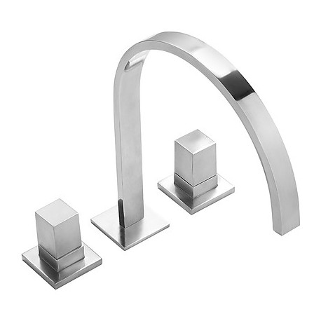 Bimando lavabo repisa caño 35x15 mm Slim-Tres.
