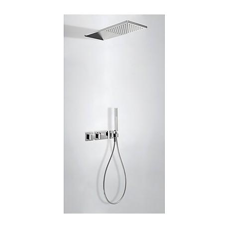 Kit ducha termostático empotrado Slim-Tres.
