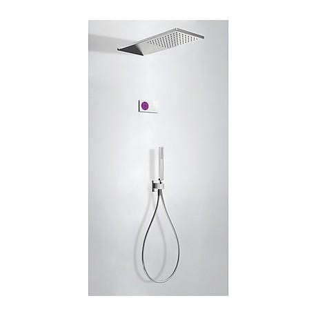 Kit electrónico ducha termostático empotrado Slim-Tres.