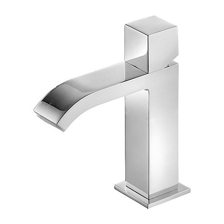 Monomando lavabo con caño cascada Cuadro-Tres.