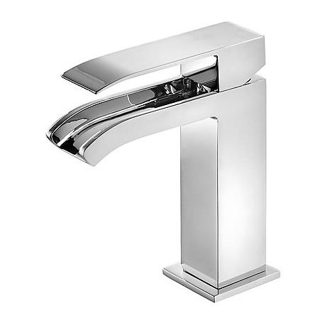 Monomando lavabo Cuadro-Tres con caño cascada libre.