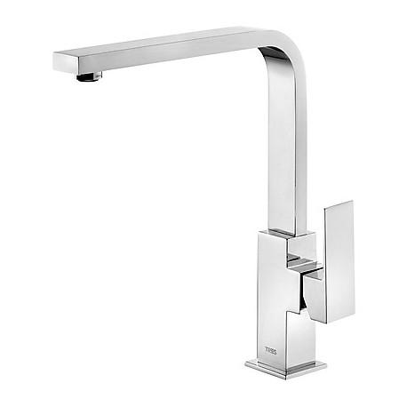 Monomando lavabo alto caño 35x15 mm Cuadro-Tres.