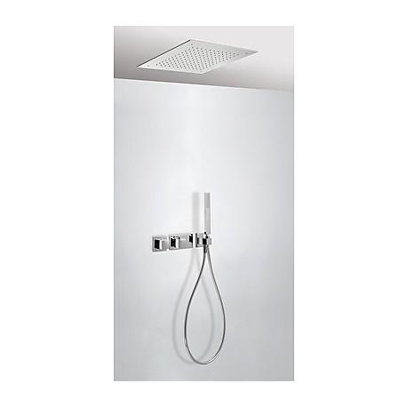Kit ducha termostático empotrado Cuadro-Tres.