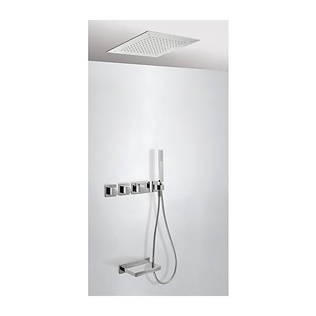 Kit bañera termostático empotrado Cuadro-Tres.