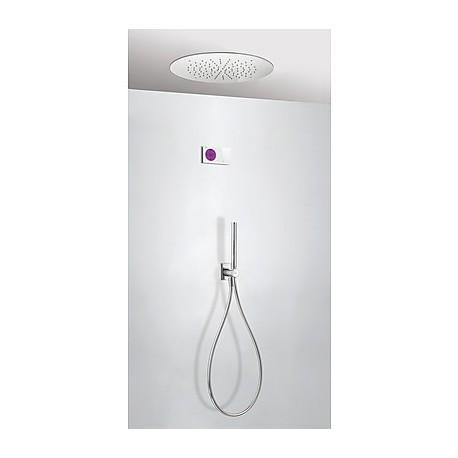 Kit electrónico ducha termostático empotrado Loft-Tres.