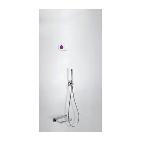 Kit electrónico bañera Termostático empotrado Loft-Tres.
