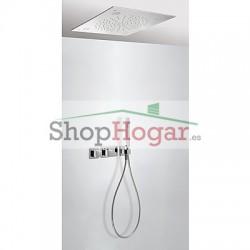 Kit ducha termostático empotrado con CROMOTERAPIA Tres.