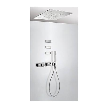 Kit ducha termostático empotrado CROMOTERAPIA Tres.