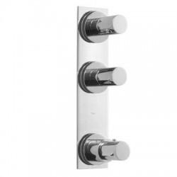 Termostática empotrar 3 vías TRES BLOCK-SYSTEM® Max-Tres.
