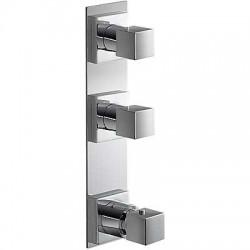 Termostática empotrar 3 vías TRES BLOCK-SYSTEM® Slim-Tres.