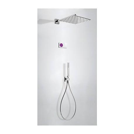 Kit electrónico ducha termostático empotrado Tres Grifería.