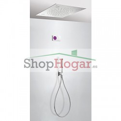 Kit electrónico ducha termostático empotrado CROMOTERAPIA Tres Grifería.