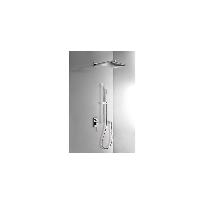 Kit ducha monomando empotrado slim tres for Grifo ducha empotrado