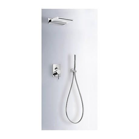 Kit ducha monomando empotrado Max-Tres.