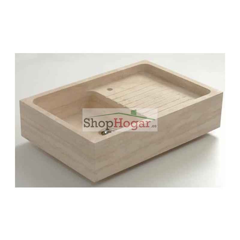 Fregadero de piedra de vicenza charles i de 90 x 61 cm for Fregadero precio