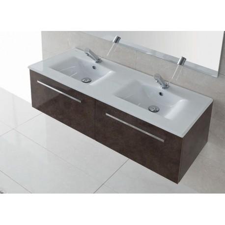 lavabo encimera doble d nia 120 unisan 121 x 46 5 cm. Black Bedroom Furniture Sets. Home Design Ideas
