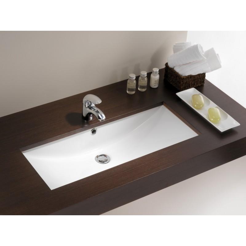 lavabo bajo encimera agres 75 unisan 76 5 x 34 5 cm