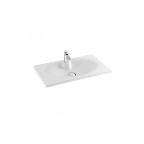 Lavabo sobre mueble o mural unisan clean 120 123 x 46 5 cm for Mueble lavabo 120 cm