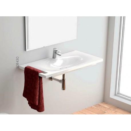 Lavabo Sobre mueble o Mural Unisan Clean 80 con toallero.