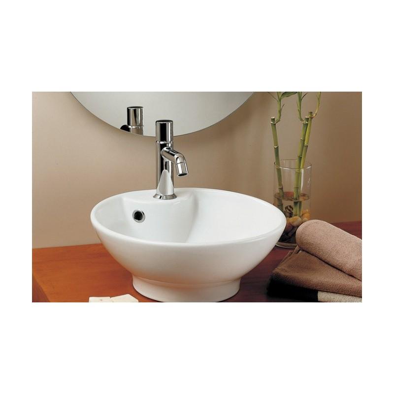 Lavabo unisan sobre mueble con orificio algar 410 for Mueble lavabo sobre encimera
