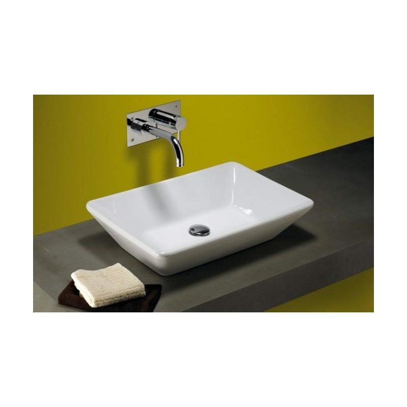 lavabo unisan sobre encimera sign 60x40 cm