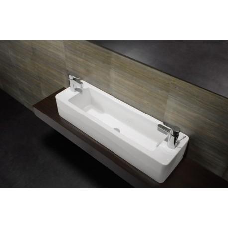 Lavabo unisan sobre encimera note 100x30 cm - Grifos para lavabos sobre encimera ...