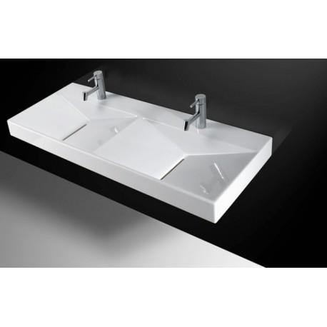 lavabo unisan mural flux dos senos 120