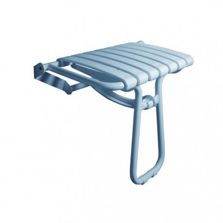 Asiento ducha plegable aluminio blanco Timblau.