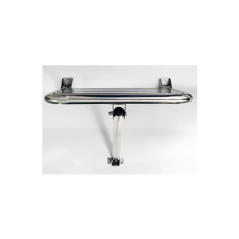 Asiento ducha abatible con soporte satinado timblau for Accesorios para minusvalidos bano