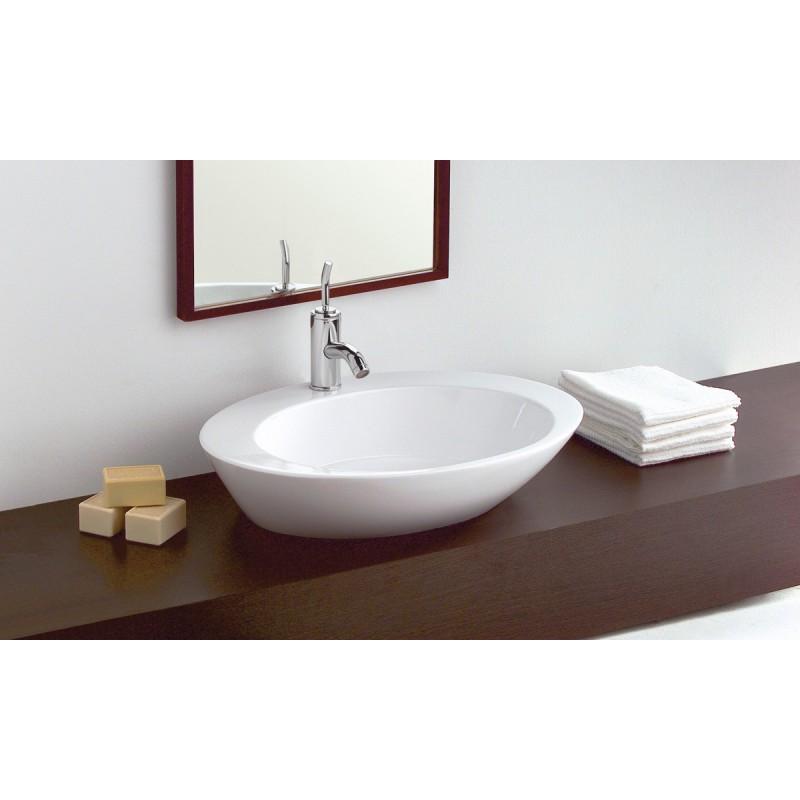 lavabo gala sobre encimera 61 x 46 cm luna