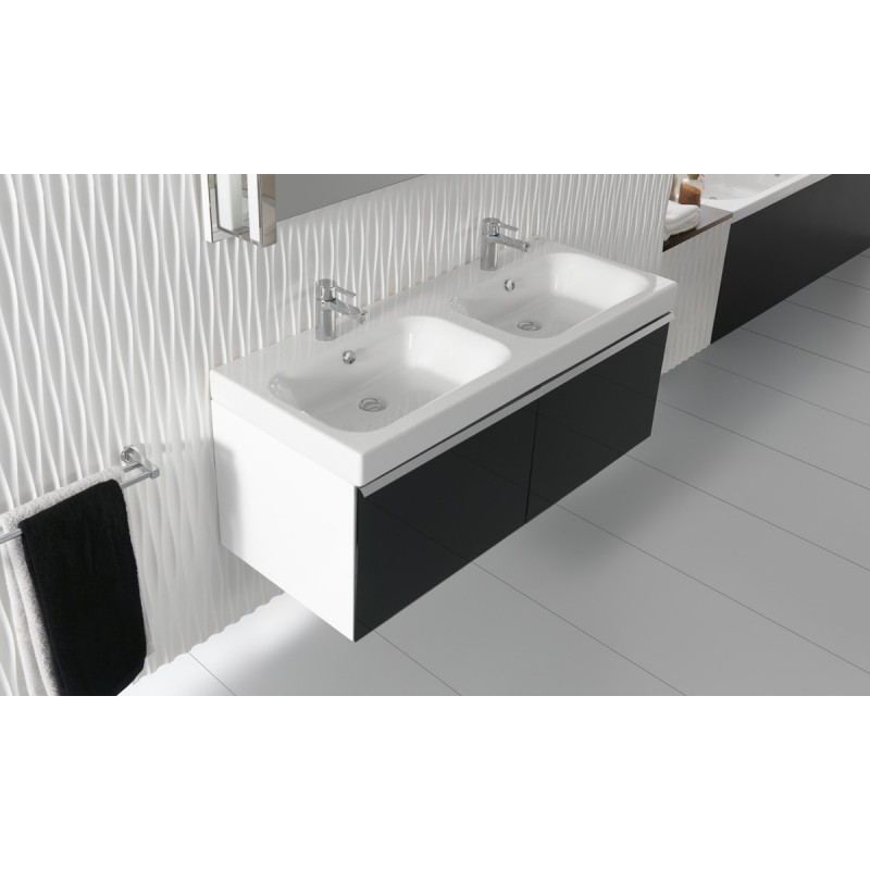 Lavabo gala doble cubeta 120 x 47 5 flex for Lavabo doble