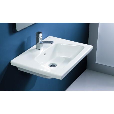 Lavabo Gala 60,5 x 45,5 x 4 modelo Veo. Instalación: mural o sobremueble.
