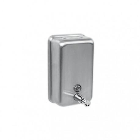 Dispensador de jabón 1,2 litros pulsador antivandálico.
