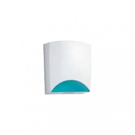 Dispensador toallitas Zig-Zag en ABS acabado blanco/azul Timblau.