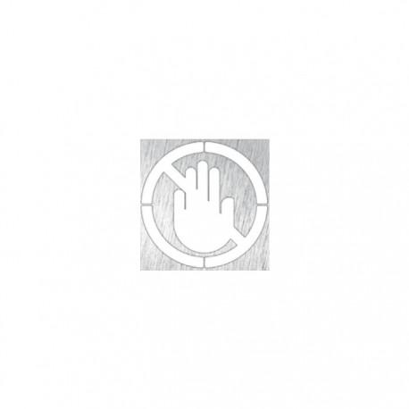Pictograma o señalética Prohibido el Paso de Timblau.