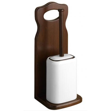 Escobillero WC suelo Gedy madera Montana.