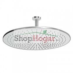 Rociador Ø 45 cm con brazo de ducha a techo Tres.