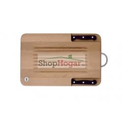 Tabla Twin con dos cuchillos Profilo y soporte para colgar Cucine Oggi.