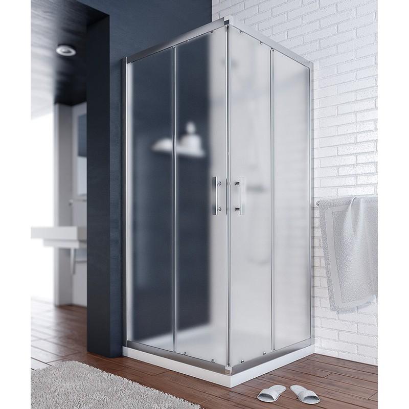 Mampara ducha cuadrada transparente tempo varobath - Mamparas de ducha cuadradas ...