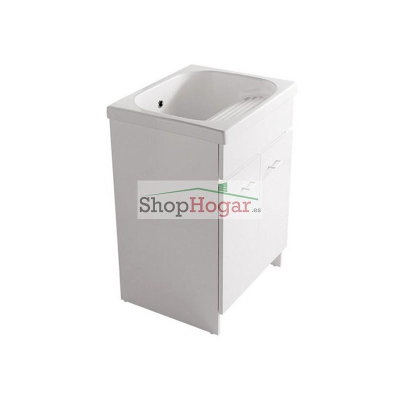 Mueble para lavadero porcelana 60 x 50 cm venere galassia for Lavadero porcelana