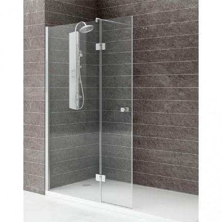 mampara ducha 1 fijo 1 abatible transparente modelo 55
